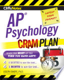 CliffsNotes AP Psychology Cram Plan