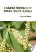 Analytical Techniques For Natural Product Research Book PDF