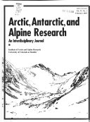 Arctic  Antarctic  and Alpine Research Book