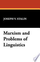 Marxism And Problems Of Linguistics