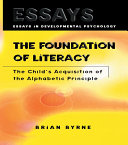The Foundation of Literacy