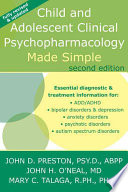 Child and Adolescent Clinical Psychopharmacology Made Simple Book