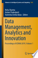 Data Management Analytics And Innovation Book PDF