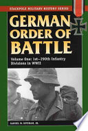 German Order of Battle: 1st-290th Infantry divisions in World War II