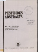 Pesticides Abstracts