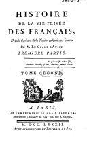 Histoire de la vie privée des Français