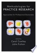 Methodologies for Practice Research Book