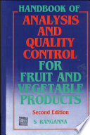 Handbook of Analysis and Quality Control for Fruit and Vegetable Products