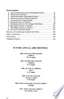 General Program of the Annual Meeting - American Institute of Biological Sciences