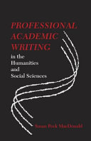 Professional Academic Writing in the Humanities and Social Sciences