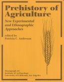 Pdf Prehistory of Agriculture Telecharger