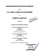 Water Resources Development By The U S Army Corps Of Engineers In North Carolina