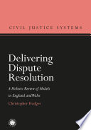 Delivering Dispute Resolution Book PDF