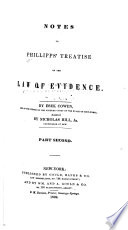 Notes to Phillipps  Treatise on the Law of Evidence