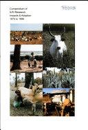 Compendium of ILRI research impacts and adoption  1975 1998