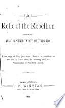 A Relic of the Rebellion Book