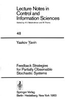 Feedback Strategies for Partially Observable Stochastic Systems