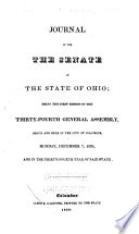 Journal of the Senate of the State of Ohio Book
