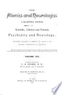 The Alienist and Neurologist Book