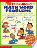 180 Think Aloud Math Word Problems Book