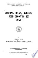 Special Days  Weeks and Months in 1950