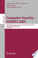 Computer Security - ESORICS 2005