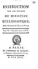 Instruction sur les devoirs du ministère ecclésiastique