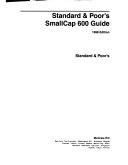 Standard   Poor s Smallcap 600 Guide
