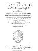 The Catalogue Of English Printed Books 1595 [Pdf/ePub] eBook