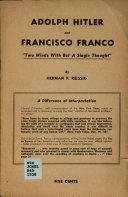 Adolph Hitler and Francisco Franco