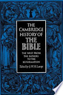 The Cambridge History Of The Bible Volume 2 The West From The Fathers To The Reformation
