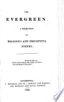 The Evergreen  A Selection of Religious and Perceptive Poetry