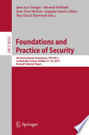 Foundations and Practice of Security Book