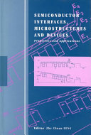 Semiconductor Interfaces  Microstructures and Devices