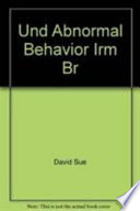 Essentials of Understanding Abnormal Behavior. Instructor's Resource Manual