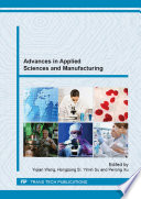 Advances In Applied Sciences And Manufacturing Book PDF