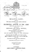 The New Army List  and Militia List