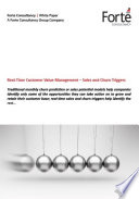 Real-Time Customer Value Management – Sales and Churn Triggers