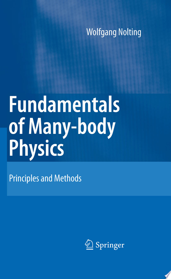Fundamentals of Many-body Physics