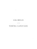 Grammar and Dictionary of the Yoruba Language