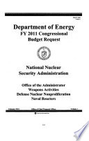 Energy and Water Development Appropriations for 2011  Dept  of Energy fiscal year 2011 justifications
