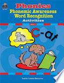 Ihonics Phonemic Awareness And Word Recognition Activities
