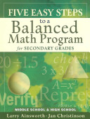 Five Easy Steps to a Balanced Math Program for Secondary Grades