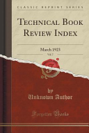 Technical Book Review Index Vol 7