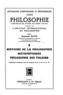 Philosophie (chronique des années d'après guerre).