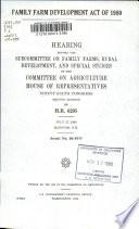 Family Farm Development Act of 1980