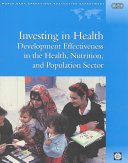 Investing in Health: Development Effectiveness in the ...