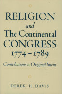 Religion and the Continental Congress, 1774-1789