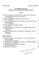 The Journal of the American Academy of Psychoanalysis