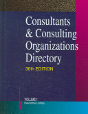 Consultants Consulting Organizations Directory 30 2v Set Book PDF